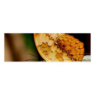 Mariposa con base del cepillo rústico plantilla de tarjeta personal