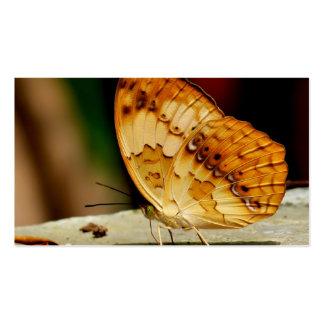 Mariposa con base del cepillo rústico tarjetas de visita