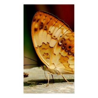 Mariposa con base del cepillo rústico tarjeta de visita