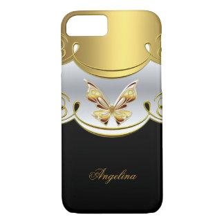 Mariposa con clase elegante del blanco del negro funda iPhone 7