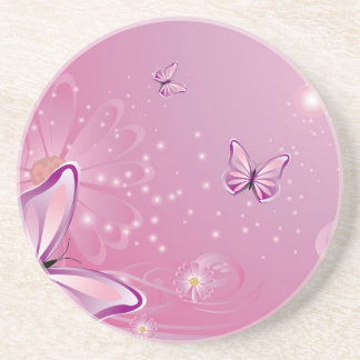 Mariposa con las flores posavasos diseño