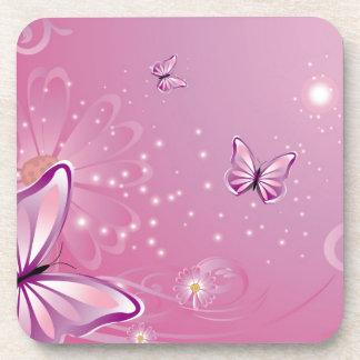 Mariposa con las flores posavaso