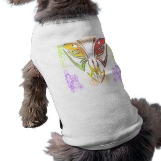 Mariposa con ropa del mascota de las flores camisas de mascota