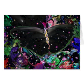 Mariposa cósmica tarjeta de felicitación