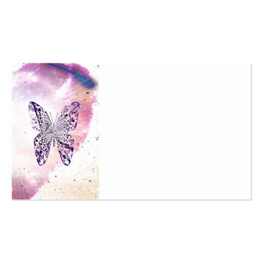 Mariposa cósmica tarjetas de visita