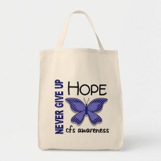 Mariposa crónica del síndrome del cansancio del bolsa tela para la compra