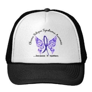 Mariposa crónica del síndrome del cansancio del CF Gorras