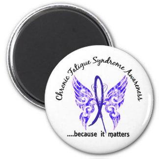 Mariposa crónica del síndrome del cansancio del CF Imán De Frigorífico