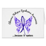 Mariposa crónica del síndrome del cansancio del CF Tarjetas