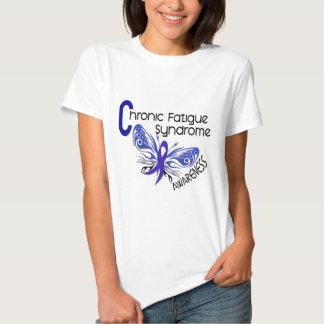 Mariposa crónica del tatuaje del síndrome del playeras
