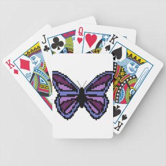 Mariposa cruzada de la púrpura de la puntada baraja