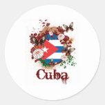 Mariposa Cuba Pegatinas Redondas