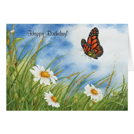 ¡Mariposa - cumpleaños! Tarjeta