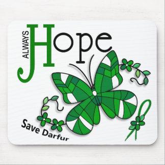 Mariposa Darfur del vitral Alfombrilla De Raton