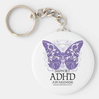 Mariposa de ADHD Llavero Redondo Tipo Pin