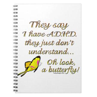Mariposa de ADHD Spiral Notebook