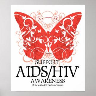 Mariposa de AIDS/HIV Posters