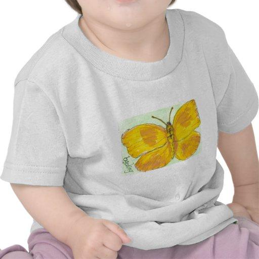 Mariposa de azufre gigante barrada naranja camisetas