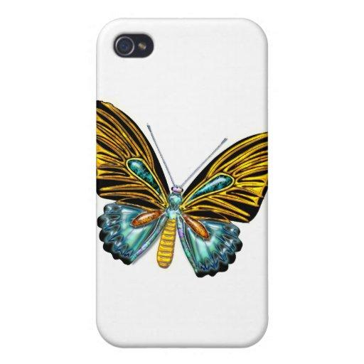 Mariposa de Bling Bling iPhone 4 Coberturas