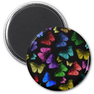 Mariposa de Buterfly Imán Redondo 5 Cm