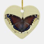 Mariposa de capa de luto - antiopa del Nymphalis Ornaments Para Arbol De Navidad