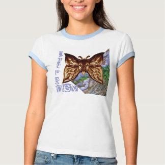Mariposa de Carpe Diem Blaue Baumrinde de la Camisas