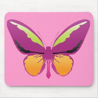 Mariposa de color de malva tapete de ratón