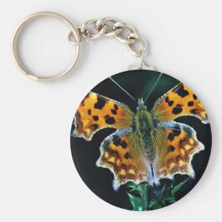 Mariposa de coma llavero redondo tipo pin