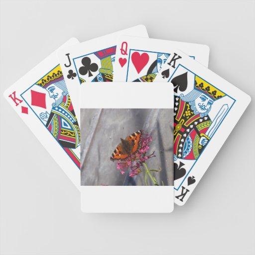 Mariposa de concha baraja de cartas