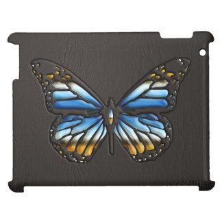 Mariposa de cuero negra con las joyas 1 iPad de la