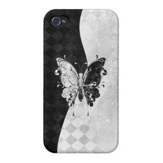 Mariposa de dos tonos iPhone 4 carcasas