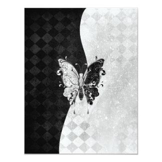 Mariposa de dos tonos invitación 10,8 x 13,9 cm