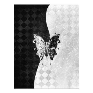 Mariposa de dos tonos plantilla de membrete