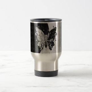 Mariposa de dos tonos taza de viaje de acero inoxidable