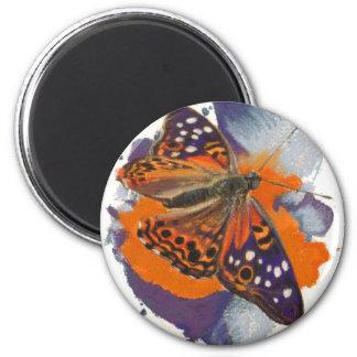 Mariposa de emperador de la almecina imán redondo 5 cm