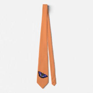 Mariposa de emperador púrpura corbata personalizada