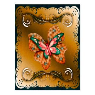 Mariposa de Flutterings confinada Postales