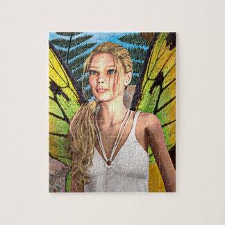 Mariposa de hadas puzzle con fotos