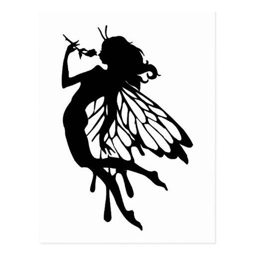 Mariposa de hadas tarjeta postal