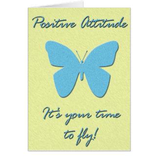 Mariposa de la actitud positiva tarjeta de felicitación