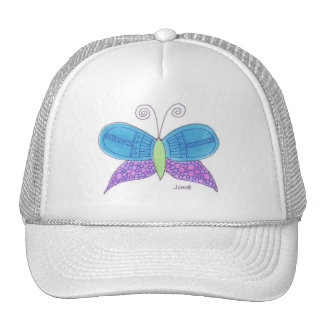 Mariposa de la acuarela gorra