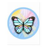 Mariposa de la aguamarina tarjeta postal