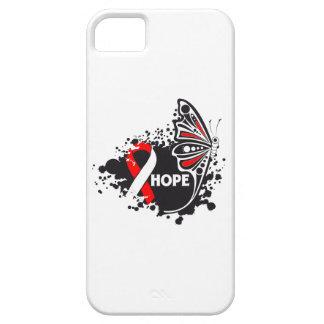 Mariposa de la anemia aplástica de la esperanza iPhone 5 Case-Mate cárcasa