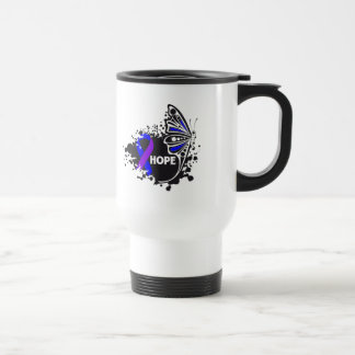 Mariposa de la artritis reumatoide de la esperanza tazas de café