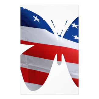 mariposa de la bandera papelería personalizada