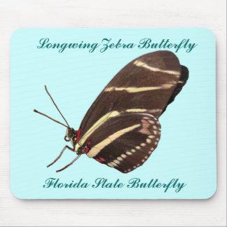 Mariposa de la cebra de Longwing de la Florida Tapete De Raton