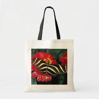 Mariposa de la cebra, flores del charitonius de He Bolsa Lienzo