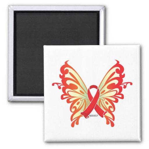 Mariposa de la cinta del SIDA Iman De Frigorífico