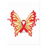 Mariposa de la cinta del SIDA Postal