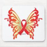 Mariposa de la cinta del SIDA Tapetes De Ratones